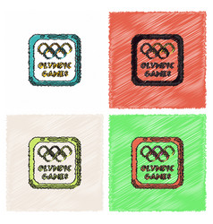 Sign symbol olympics games in hatching style vector