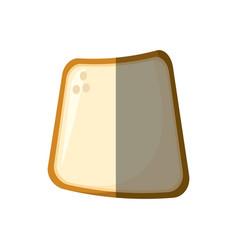 slice bread bakery shadow vector image