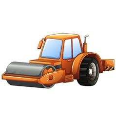 Steam roller vector image