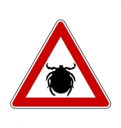 tick warning sign vector image