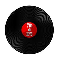 Vinyl record 70s hits vector image vector image