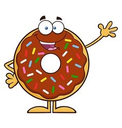 Waving Donut Cartoon vector image