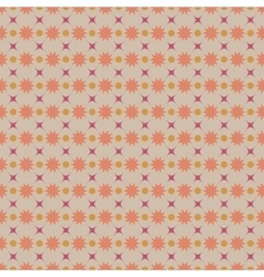 Circle and star pastel seamless pattern vector