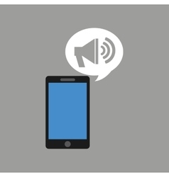 concept social media hand holding smartphone vector image