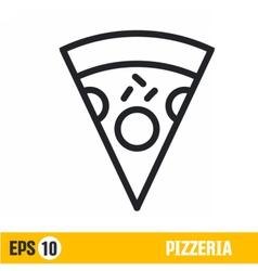 Line icon pizza vector