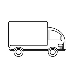Truck mini delivery cargo outline vector