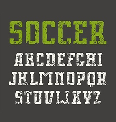 Slab serif font in urban style with shabby texture vector