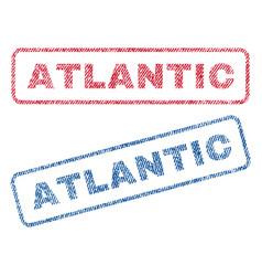Atlantic textile stamps vector
