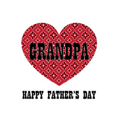Red bandana heart grandpa fathers day vector