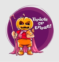 Character in halloween suit vector