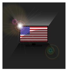 flag American in TV vector image