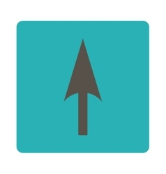 Arrow axis y flat grey and cyan colors rounded vector