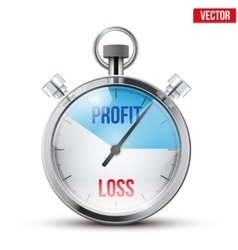 Stopwatch for forex trader vector