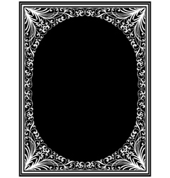 Vintage floral frame vector