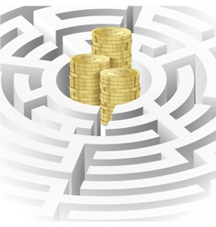 Money in the maze vector
