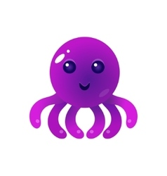 Purple balloon octopus character vector