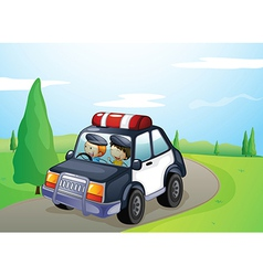 a car and smiling kids vector image vector image