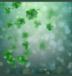 Abstract bokeh blur template with - trifolium vector