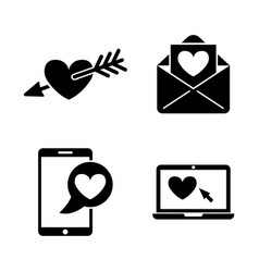 amour simple related icons vector image vector image
