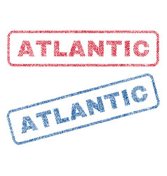 Atlantic textile stamps vector