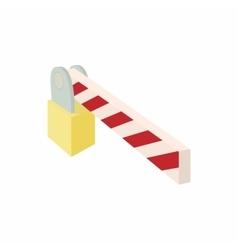 Barrier icon cartoon style vector