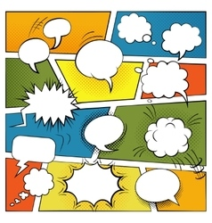 Blank Comic Bubbles Set vector image