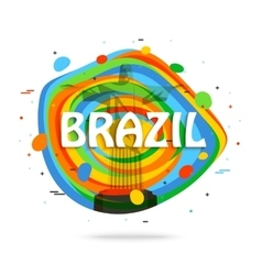 Brazil travel background for tourist banner vector image