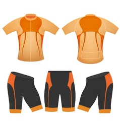 Brown colors cyclist vector