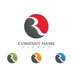 Business corporate r letter logo design vector