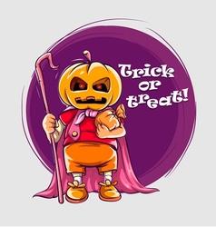 Character in halloween suit vector