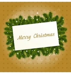 Christmas Card With New Year Tree vector image