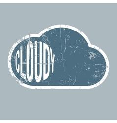 Cloudy retro grunge background vector