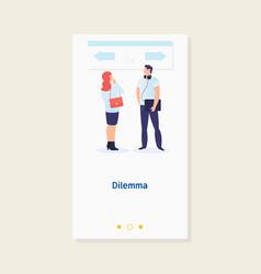 dilemma of businessmanbusiness decision concept vector image