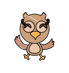 Drawing owl animal character vector
