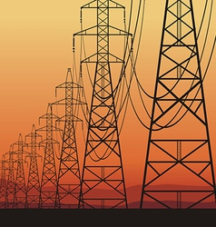 Electrical power lines vector