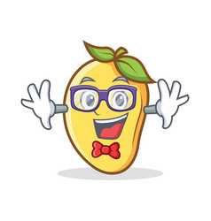 Geek mango character cartoon mascot vector
