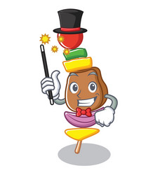 Magician barbecue character cartoon style vector