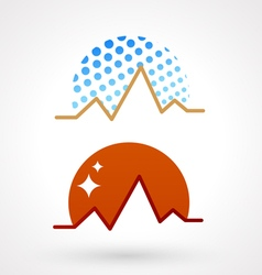 mountains symbol vector image vector image