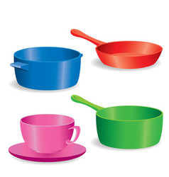 Pots and pans vector