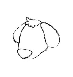 puppy cartoon drawing head faceless vector image vector image