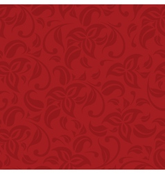 Red floral saemless background vector
