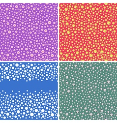 Seamless scattered textures vector