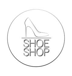 Shoe shop logo concept vector