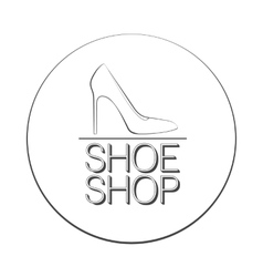 Shoe Shop Logo Concept vector image vector image