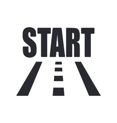 start icon vector image vector image