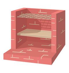 stone barbecue icon cartoon style vector image vector image