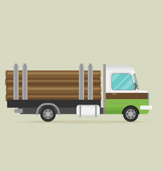 timber wood truck vector image