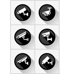 Video surveillance set vector image vector image