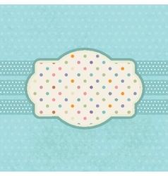 Vintage frame on polka dot background vector