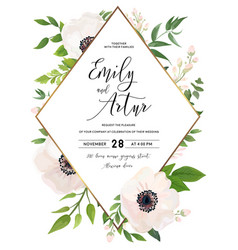 wedding invite invitation save the date card vector image vector image